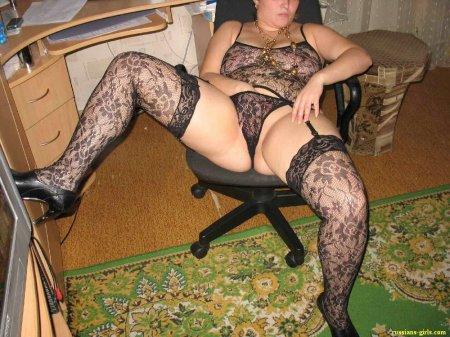 фото толстых баб в чулках