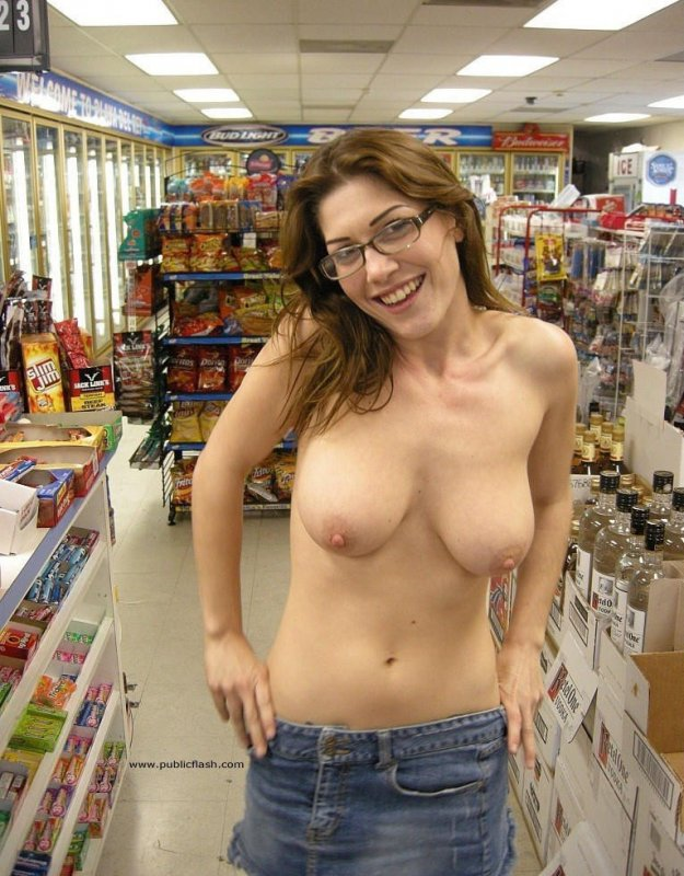 Nude brunette tiny tits