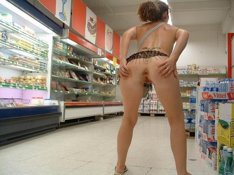 порно голые в супермаркетах