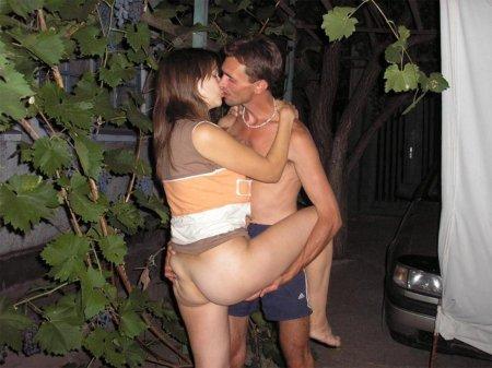 муж жена на природе порно