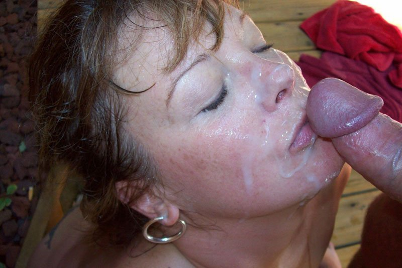Порно фото тетки в сперме